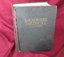 1924 Antique French Hardcover Encyclopedia Book – Larousse Medical Illustrations