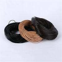 1mm 2mm 3mm Leather Cord Thread For Bracelet Necklace Jewelry Making 1M 10M