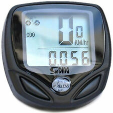 WIRELESS LCD BIKE COMPUTER SPEEDO WATERPROOF ODOMETER SPEEDOMETER BICYCLE CYCLE