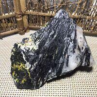 1.8kg  Natural black Tourmaline Quartz Crystal Original Mineral Specimen 001