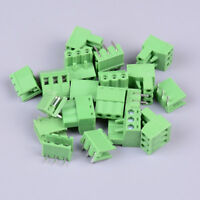 10Pcs KF2EDGK KF-3P 3pin right angle plug-in terminal connector 5.08mm pitch TEU