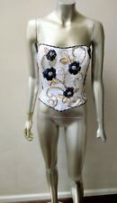 George F. Couture Neiman Marcus Op Art Gold Thread Glass Beads Corset Bustier 12