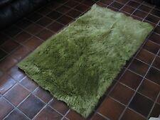 Celery Green Flokati Faux Fur Rug soft & plush 5' x 8'