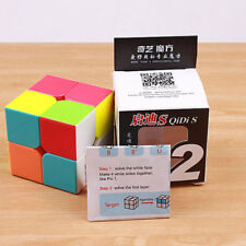 Qiyi Qidi S 2x2 Colorful Stickerless Magic Cube Brain Teasers Twist Toy Puzzles