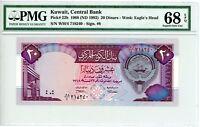 Kuwait ... P-22b ... 20 Dinars ... L.1968(1992) ... *Superb Gem UNC* PMG 68 EPQ