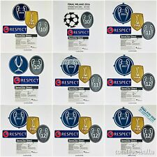 Official Real Madrid Uefa Champions League patch badges Full sets Sporting ID.