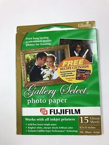 """Fujifilm Gallery Select Photo Paper 15 Glossy Sheets 8.5x11"""""""