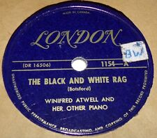 London 1154 Winifred Atwell The Black And White Rag / Cross Hands Boogie 78 RPM