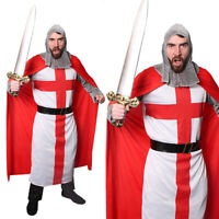 ENGLAND 2ND SKIN COSTUME St George Flag Morphsuit Skin Fancy Dress Outfit 80542