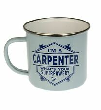 Carpenter Camping Enamel Tin Metal Mugs Cups Outdoor Gardening Picnic