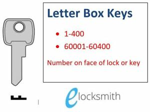 Lost? Letter Box, Mailbox Lock Key to Code - Cupboard - Filing Cabinet  001-400