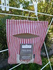 Ogilvies Provincial linen red peg bag