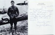 Douglas Campbell WWI Ace 94th Aero Squadron 5 Victories 1st US Ace Signed Letter