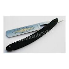 Rasiermesser Rasur schwarzer Griff mit Goldätzung 5/8 Zoll