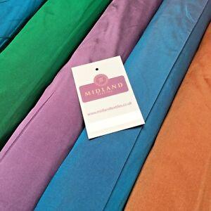 "Plain Taffeta Faux Silk ideal for evening wear dress fabric 58"" Wide MK917 Mtex"
