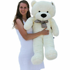 "Joyfay 47"" 120cm White Teddy Bear Giant Big Huge Plush Toy Valentines Gift"