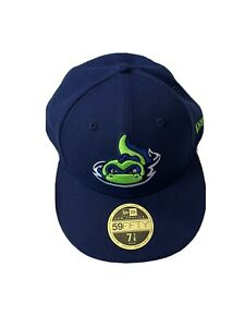 New Era Vermont Lake Monsters Fitted Baseball Hat Size 7 7/8 MILB 59fifty