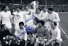 Signed QPR 1967 League Cup Final Autograph Photo Lazarus Morgan Rodney Marsh