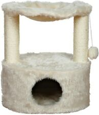 Cat Hammock 19.5 in. W x 14.75 in. D x 23.5 in. H Ultra-Plush in Cream Finish