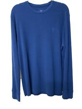 TIMBERLAND  MENS BLUE THERMAL T-Shirt  Size:  L