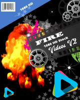 "HD (1080) Royalty Free Stock Footage Videos ""FIRE  "" on DvD-Rom"