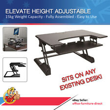 Height Adjustable Desk Sit Stand Office Desks Stand Up Ergonomic Tables Elevate