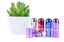 Aromatherapy Bottles Glass*5 x 3ml*Coloured*Glass Roller*Essential Oil*Perfume