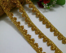 10 Yards Venise/Venice Metallic Gold Lace Trim For Sewing/Craft Wide 2 cm
