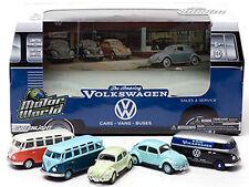Greenlight DIORAMAS MOTOR WORLD 60's Car Dealership  VOLKSWAGENS Set of 5 cars