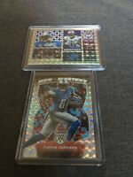 Calvin Johnson 2020 Panini Mosaic Men of Mastery/Montage Mosaic Prizm 2 Card Lot