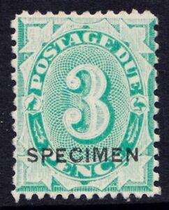 Australia three pence postage due stamp with Specimen overprint