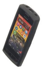 4-ok in silicone guscio protettivo Cover Case Borsa In Nero per Nokia 700