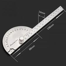 180 Degree Protractor Angular Angle Measuring Tool Ruler Adjustable Bevel Circle