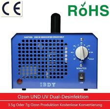Professionale Generatore ozono incl. lampada UV 3,5 g /7g 7000mg/h Timer