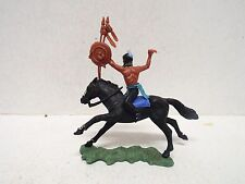 BRITAINS HERALD SWOPPET INDIAN MOUNTED WARRIOR UNBOXED  (BS1688)