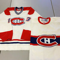 Lot 2 Size 56 2XL Montreal Canadiens Jerseys Vintage White Home Hockey Blank CCM