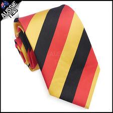 MENS RED, BLACK & YELLOW STRIPE SPORT TIE stripes striped necktie