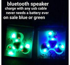 Bluetooth LED Glow Fidget Spinner EDC Hand Finger Gyro ADHD Focus Toy Gift- Blue