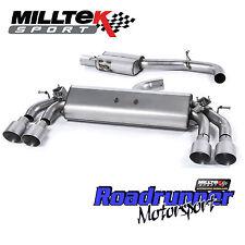 "Milltek Golf R MK7 Cat Back Exhaust Resonated Valved 3"" Titanium Tails GT100 EC"