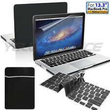 "4 IN 1 Hard Rubberized Case Cover Sleeve Bag For Macbook Pro w/Retina 13"" Laptop"