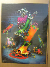 vintage No Skateboards Harron '88 skeleton skater  Harron Poster 595