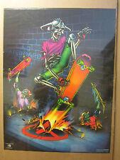 vintage No Skateboards Harron '88 skeleton skater  Harron Poster 595