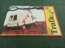January 1987 RENAULT TRAFIC 4x4 VAN UK BROCHURE