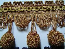 "2.75"" Ball Fringe  Coin Gold and Yellow"