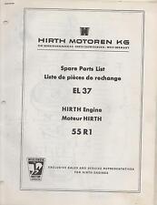 HIRTH EL 37 SNOWMOBILE & VEHICLE ENGINE MODEL 55R1 SPARE PARTS MANUAL (650)