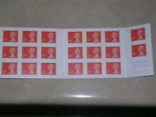 1993 MG1 Barcode Booklet - 20 x 1st Class Landscape Stamps