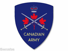 "CANADA CANADIAN ARMY MAPLE LEAF SWORD 4"" USA MADE STICKER DECAL"