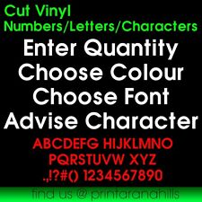 1 x Cut Vinyl Letter or Number up to 50mm High CS00300