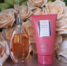 ❤️LAURA BIAGIOTTI,SOTTO VOCE 2.5 oz 75 ML.EDT+CARING SHOWER GEL 150ml.5.1oz