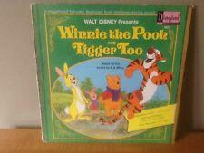 Walt Disney Winnie the Pooh & Tigger Too - Original Vinyl LP Record & Story Book